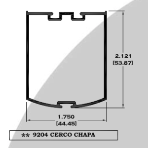 Cerco Chapa Crysmart, puerta